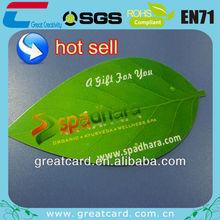 Leaf shape plastic card