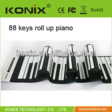 flexible midi 88keys piano role up