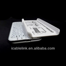 2012 For Iphone5 bluetooth keyboard with Ultra-thin and Slide -out backlit keyboard,Hardshell plastic case,Backlight function