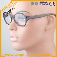 Woman's vintage round high quality acetate eyewear optical frames(6115)