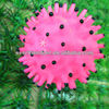 8.5cm pink spikey pig ball simple pet chew
