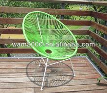 steel PE round wicker egg chair
