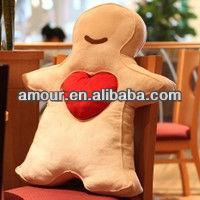 gingerbread man soft toy stuffed christmas gingerbread man chair cushion cute cartoon seat cusion for girls