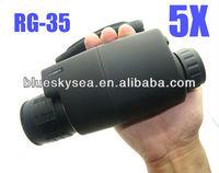 Brand Gen1RG- 35 Digital 5X50 Night Vision Black Monocular For Hunting Boating