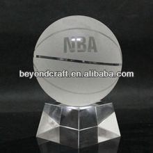Crystal glass basketball ,crystal basketball fans souvenir gifts