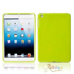 Glossy Back Cover TPU Gel Case for iPad Mini Green