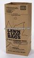 bolsa de papel kraft para el césped de la hoja y el embalaje