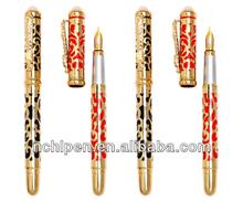 luxury dragon fountain pen with gemstone