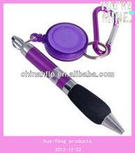 retractable badge reel pen
