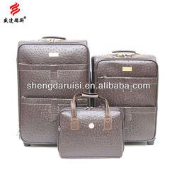 animal print luggage