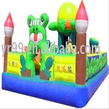 inflatable little tadpole find mom castle and slide