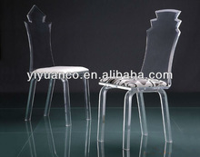 Transparent plastic chairs without arms