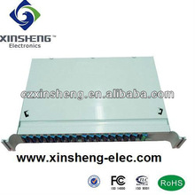 1*16 PLC Optical Splitter with splice tray package for GPON/PON/CATV system