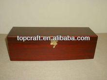 Wooden Dark Wood Color Wine Box Bottle Carrier