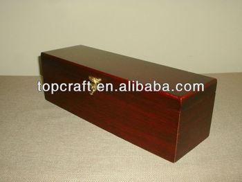 Wooden Dark Wood Color Wine Box Bottle Carrier wholesale