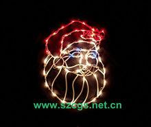 Papai noel rosto de janela de natal silhueta decorações iluminação decoração