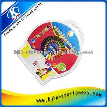 plastic CD music box color pencil crayon set