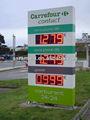 Asramimpermeável ao ar livre 7 segmento digital led preço do gás sinal/petróleo levou mostrar estação/led combustível gasolina painel de bordo os produtos quentes