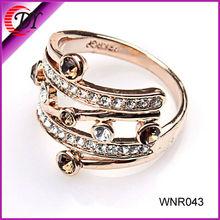 2012 latest design gold diamond ring design for women WNR043-1