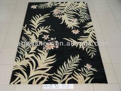Flower design wool carpets / rugs