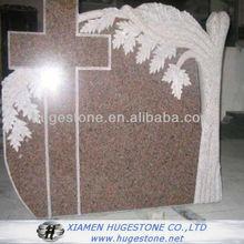 Cross Design Headstone,Pink Monuments