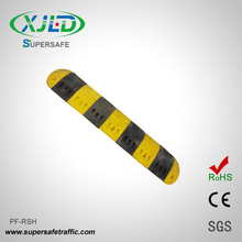 Rubber Speed Bump Calming Traffic Without Vehicle Damage