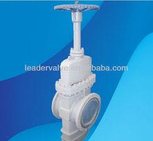 Through conduit gate valve gear operated