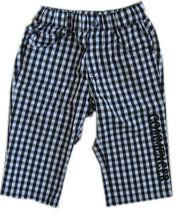 children black&white checked casual shorts