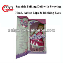 Spanish Talking Doll With Swaying Head, Action Lips & Blinking Eyes
