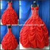 B71 Best Selling Pleats Taffeta Red Quinceanera Dresses