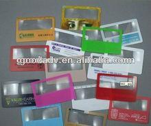 2012 hot selling mini pvc magnifying glass bookmark