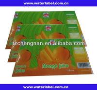 PVC shrink wrap packaging labels drink or water bottles