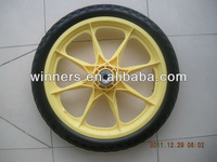 High quality High Performance Strong 16 Inch String Trimmers PU Foam Wheels