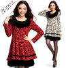 Long sleeve ladies winter dress designs 98326