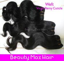 Beautymax Hair 6A Grade 10''-40'' natural black body wave hair mens hair weave