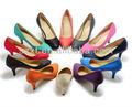 elegantes zapatos de las señoras de colores las mujeres los zapatos de tacón de espesor zapatos de trabajo para las damas de oficina 2013