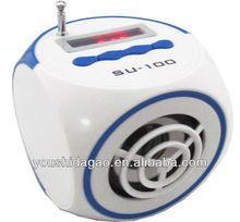 SU-100 mini speaker jack 3.5 with fm radio on promotion