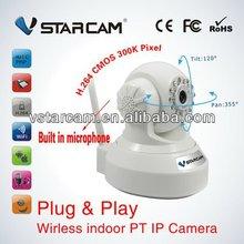 Wireless PNP P2P IP Camera Pan/tilt CMOS sensor 3.6mm lens