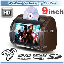 9 Inch Universal Touch Screen Car Headrest DVD Player