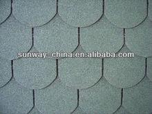 Fish-scale asphalt shingle roofing tiles (Chateau green)