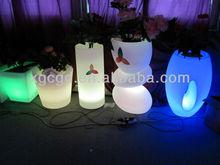 led furniture/led plastic furniture/modern plastic special flower pot