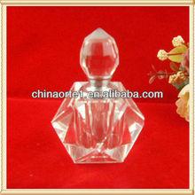Cristal huile corps forme bouteille de parfum pour saint valentin cadeau