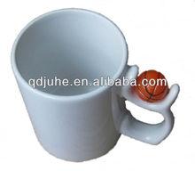 11oz blank sublimation ceramic mug with basketball