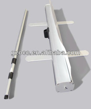 Adjustable roll up stand with retractable aluminum pole,western price roll up,sales promotion roll up display