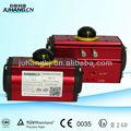 3 port válvula a de fundición a presión de aluminio neumático actuador giratorio