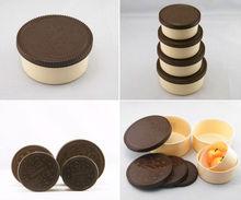 BPA free chocolate round PP Kids snack box