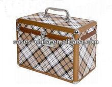 Aluminum antique artist carry beautify cosmetic case/box