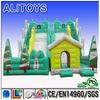 Dual lane funny inflatable slide for kids