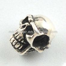 Skull european screw beads
