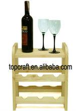 natural wooden bottle Wine Rack